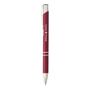shiny metal sinatra pen in deep red