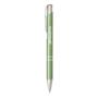 shiny metal sinatra pen in green