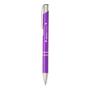 shiny metal sinatra pen in purple