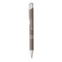 shiny metal sinatra pen in grey