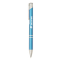 shiny metal sinatra pen in blue