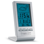 Promotionl weather station with digital screen and company logo printed below