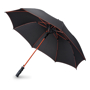 Skye Umbrella in black with red details
