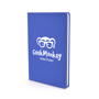 A5 slimline PU notebook in blue with 1 colour white print logo