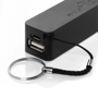 black power bank with keychain