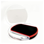 white charging pad and black and red charging pad