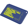 Snap Credit Card Ice Scraper in blue with 1 colour print