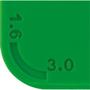 Snap Credit Card Ice Scraper in green