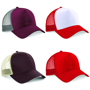 Snapback Trucker with cotton front panel and visor and mesh rear panels