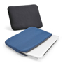Soft laptop sleeves in black and blue