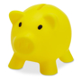 softco piggy bank in yellow
