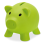 softco piggy bank in green