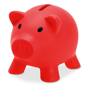 softco piggy bank in red