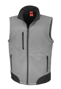 Softshell Bodywarmer in grey with black panels and full front zip