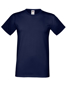 Softspun T in navy with crew neck