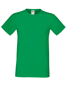 Softspun T in green with crew neck