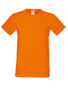 Softspun T in orange with crew neck