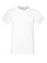 Softspun T in white with crew neck