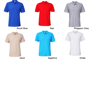 Softstyle Double Pique Short Sleeve Polo with collar and 2 colour matched buttons