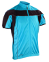 Spiro Bikewear full zip in blue with reflective piping and black contrast panels
