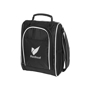 Black and white cool bag with carry handle and side shoulder straps