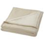 Springwood soft fleece and sherpa plaid blanket in cream