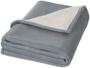Springwood soft fleece and sherpa plaid blanket in grey