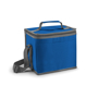 Square cooler bag in blue with grey trim