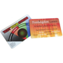 Stress monitor card with company artwork printed in full colour