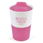 350ml reusable hot drinks mug for promotional merchandise in pink and white