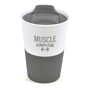 Promotional 350ml take out mug in grey and white