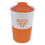 350ml take out coffee cup in orange and white