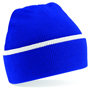 Teamwear Beanie in blue with white stripe