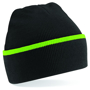 Teamwear Beanie in black with green stripe