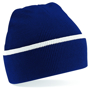 Teamwear Beanie in navy with white stripe