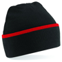 Teamwear Beanie in black with red stripe