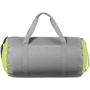 Tennessee Duffel in grey with grey handles and green side panels
