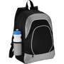 Branson Tablet Backpack in black and grey with white details