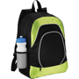 Branson Tablet Backpack in black and green with white details