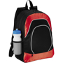 Branson Tablet Backpack in black and red with white details