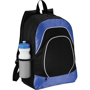 Branson Tablet Backpack in black and blue with white details