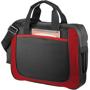 Black shoulder business case with red trim.