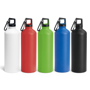 thermal metal bottle with carabiner clip to lid - group image