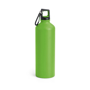 thermal metal bottle with carabiner clip to lid - green