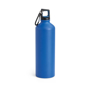 thermal metal bottle with carabiner clip to lid - blue