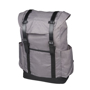 """Thomas 16"""" Laptop Backpack in grey with black straps and details"""