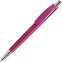 Ball pen in silver and magenta