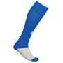 Training Socks in blue and grey with 1 colour print logo