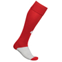 Training Socks in red and grey with 1 colour print logo