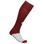 Training Socks in burgundy and grey with 1 colour print logo